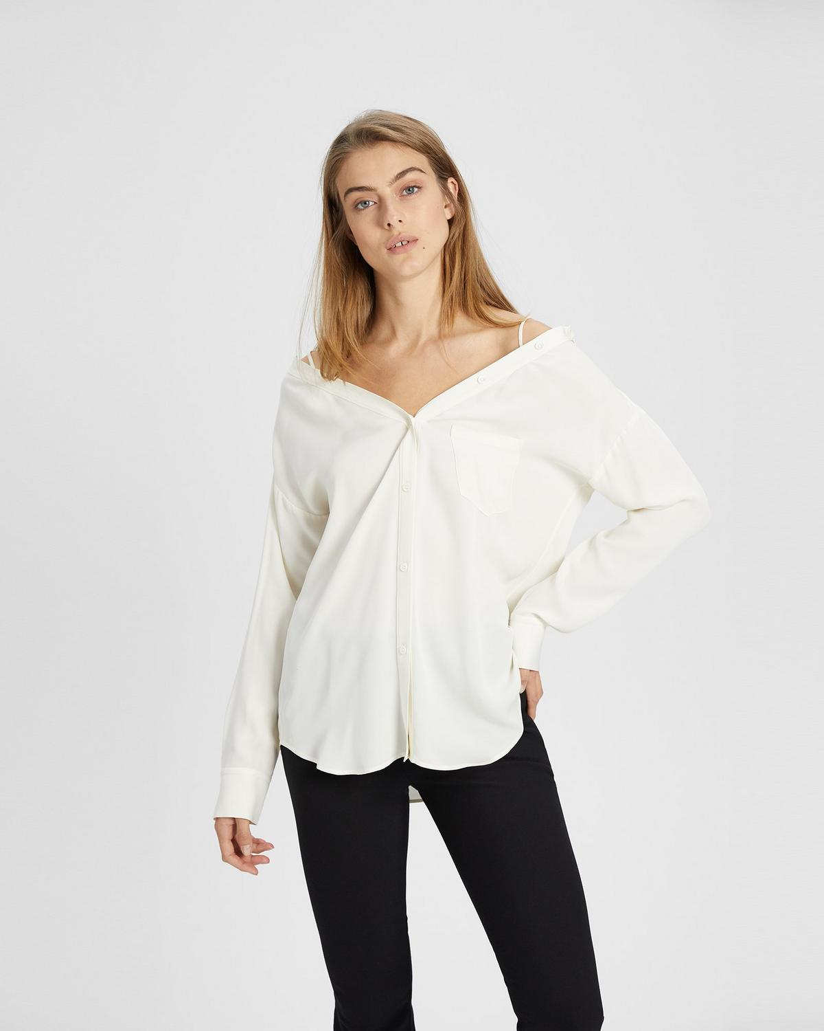 Off-The-Shoulder Shirt