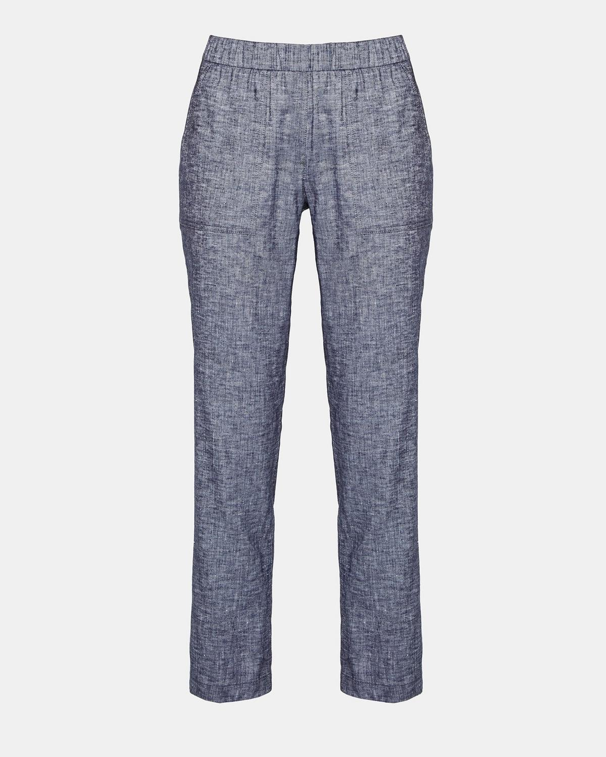 Stretch Linen Utility Pant