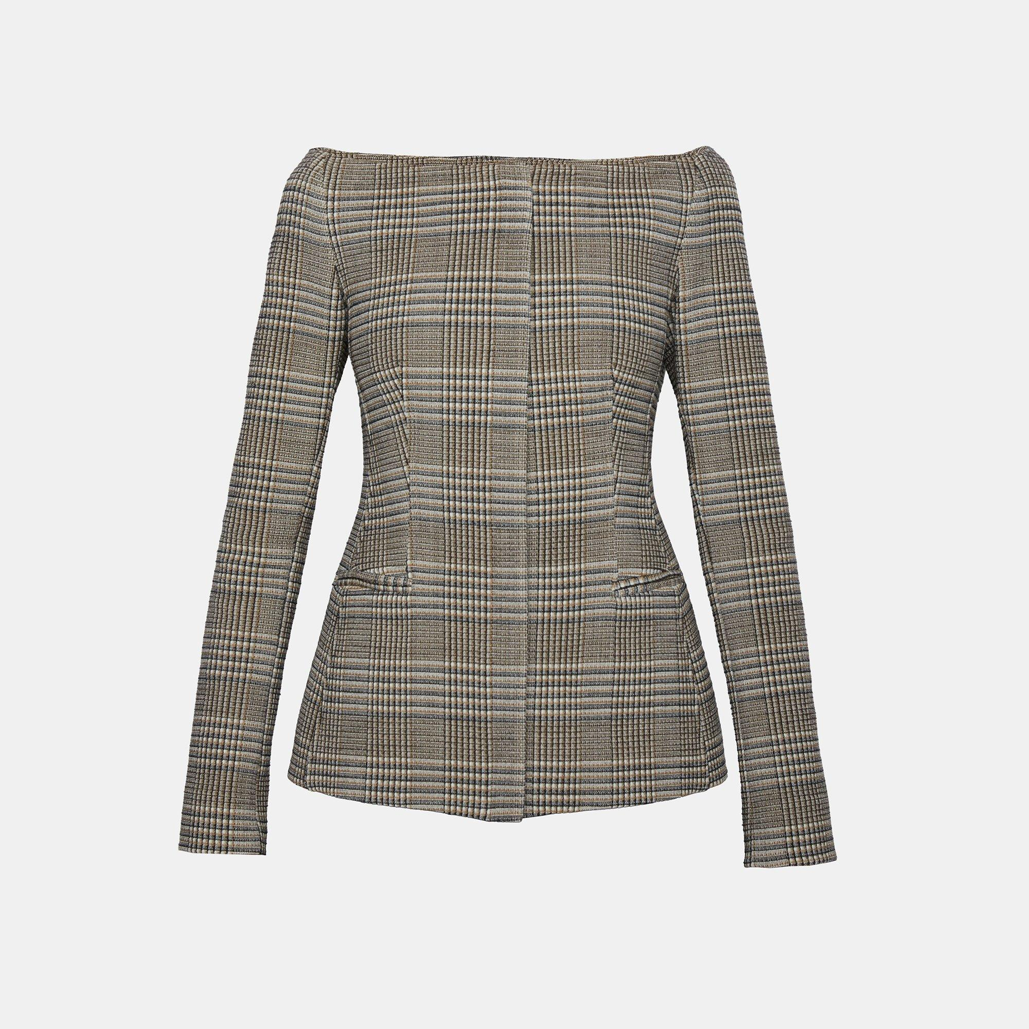 Wool Off The Shoulder Jacket Theory