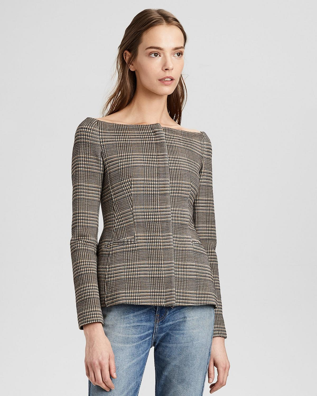 Wool Off-The-Shoulder Jacket