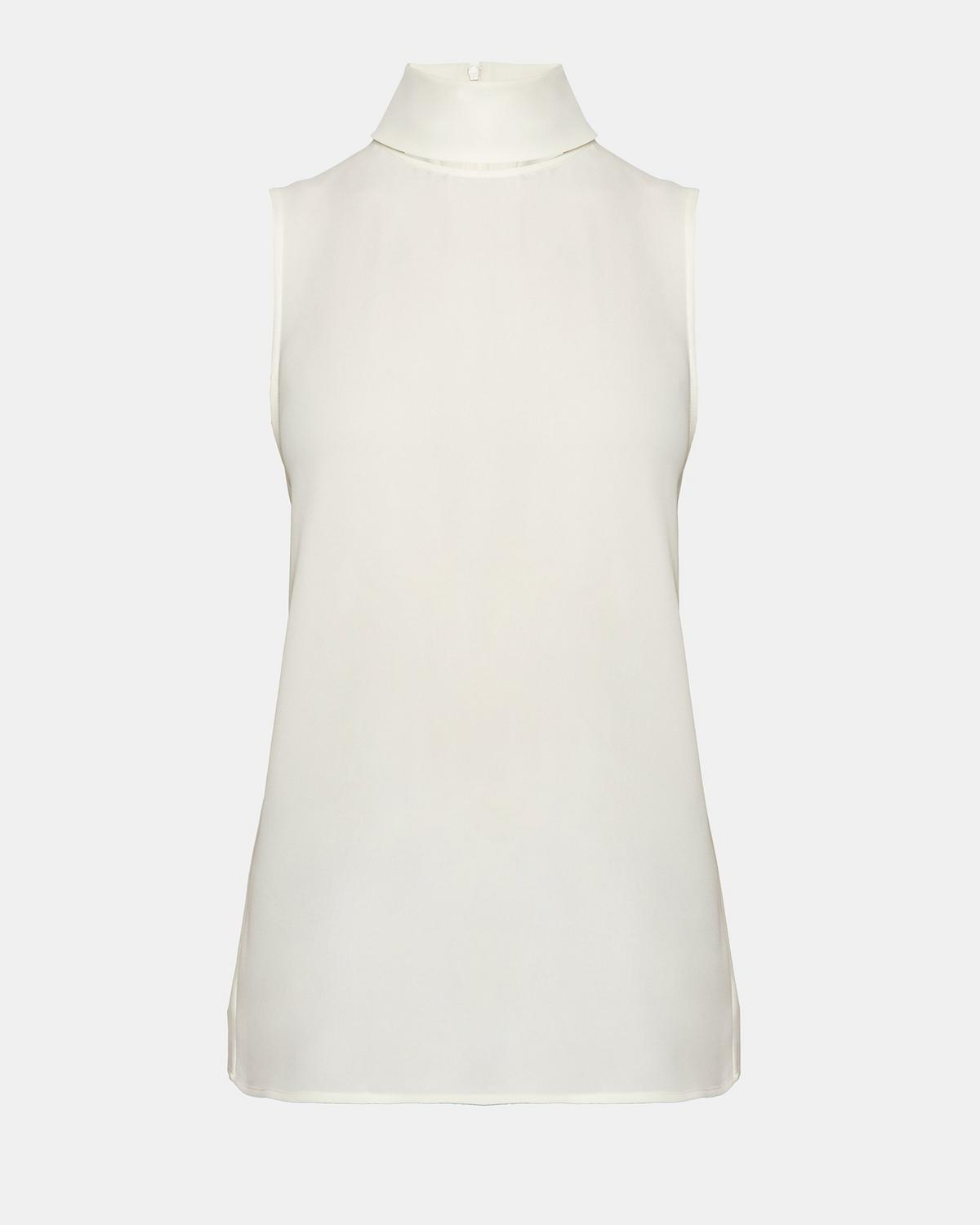 Clothing, Shoes & Jewelry Theory Womens Slit Collar Top Contemporary & Designer