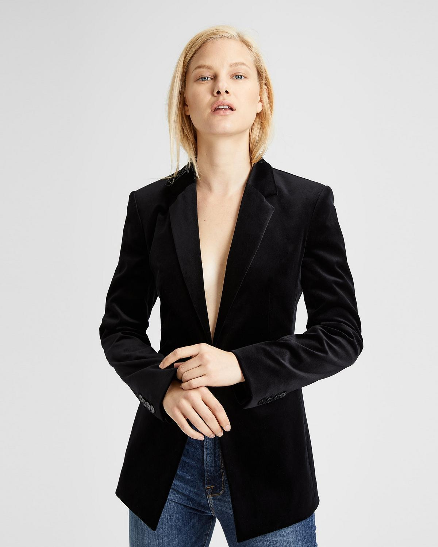 Velvet Power Jacket in Black from Theory