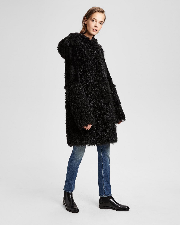 Theory Shearling Knee-Length Coat