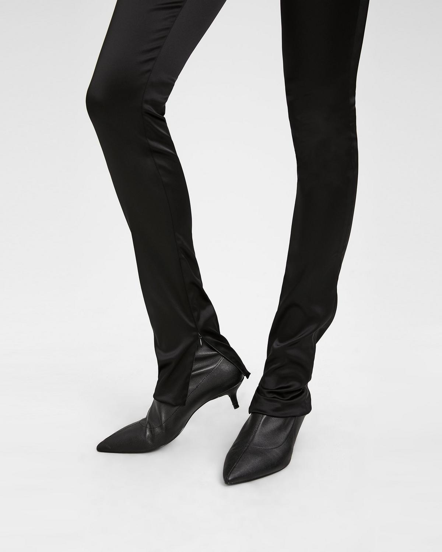 White Satin Leggings