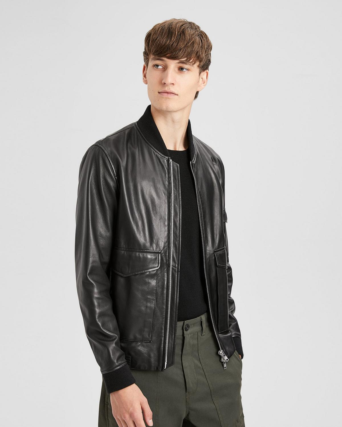 Leather Bomber Jacket | Theory