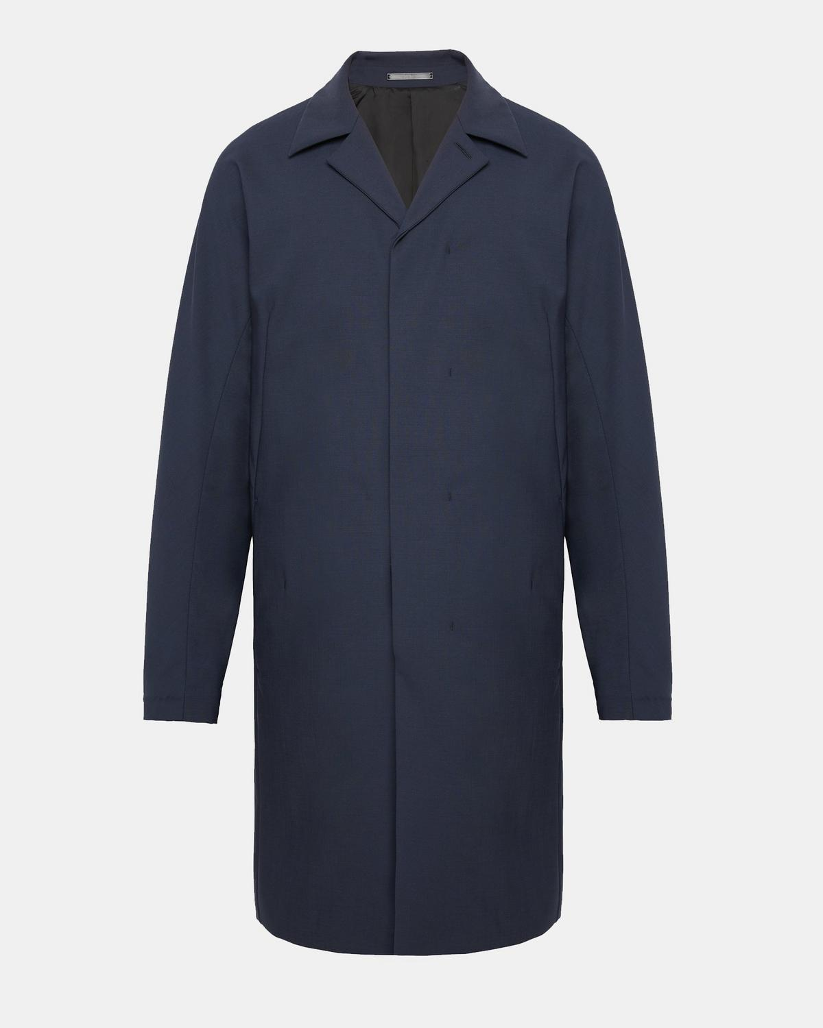 stretch wool modern balmacaan coat  theory - stretch wool modern balmacaan coat