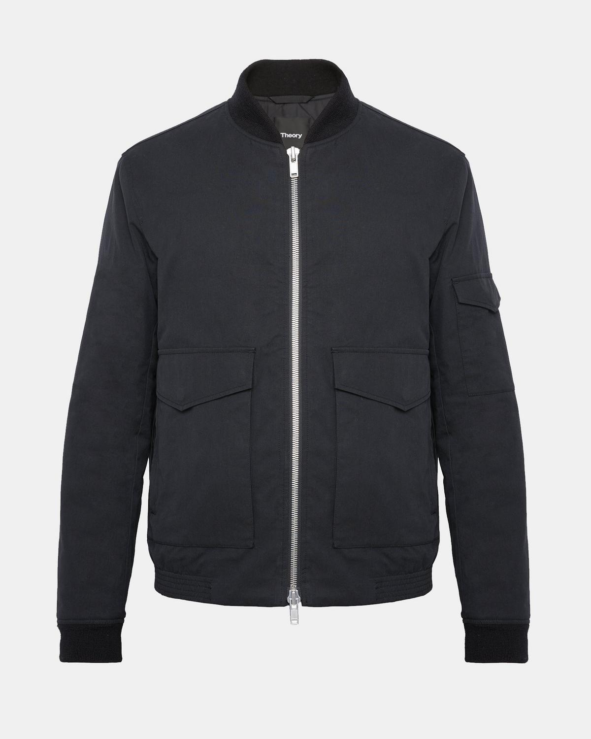 Cotton Canvas Bomber Jacket | Theory