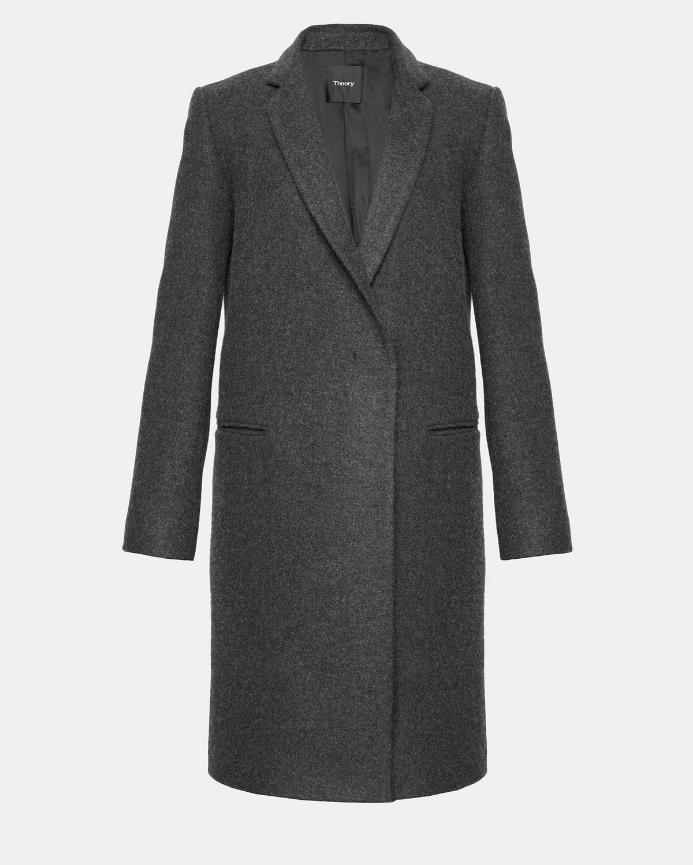5542ae8c5777c Wool Twill Essential Coat | Theory