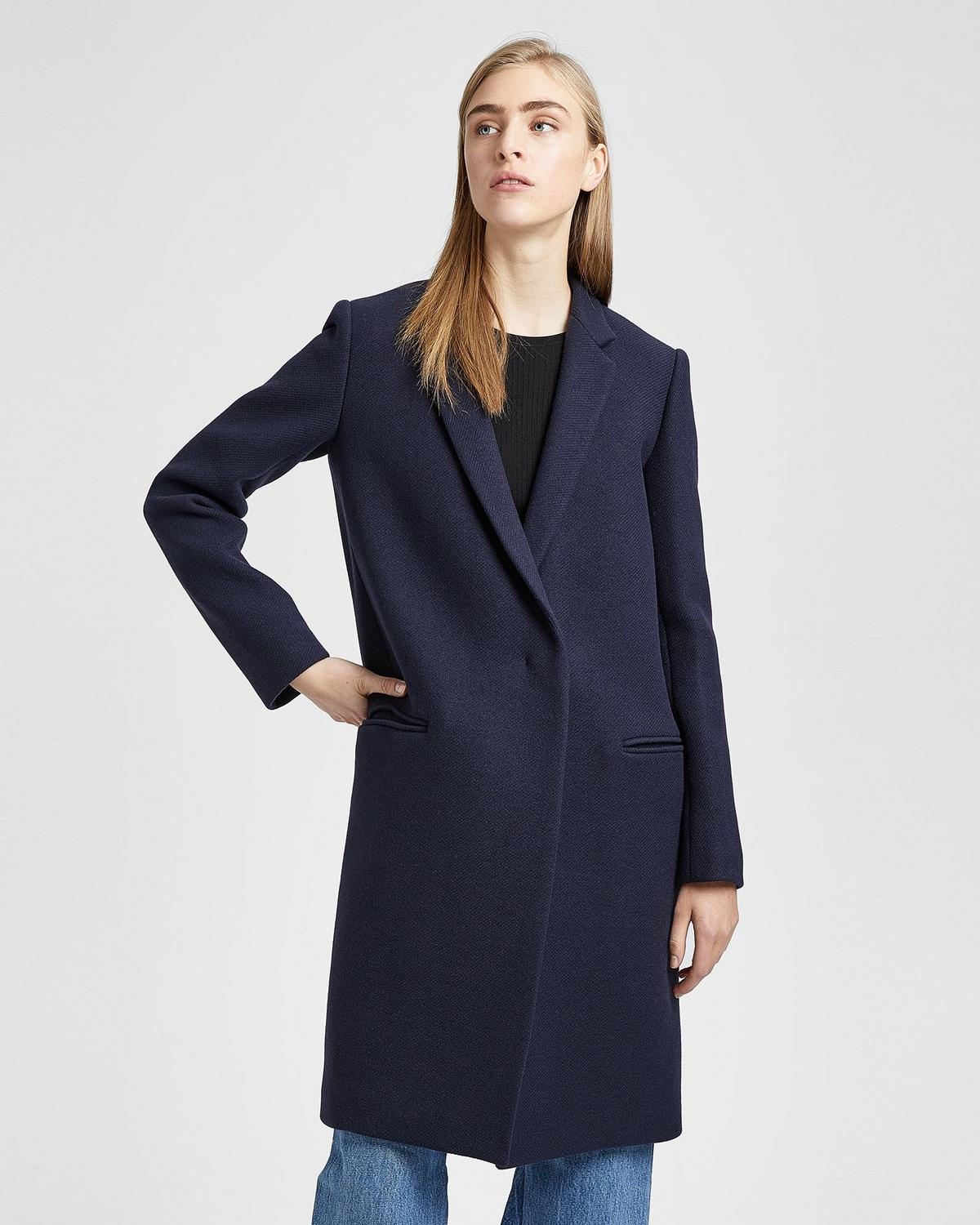 a572be3830f Wool Twill Essential Coat   Theory