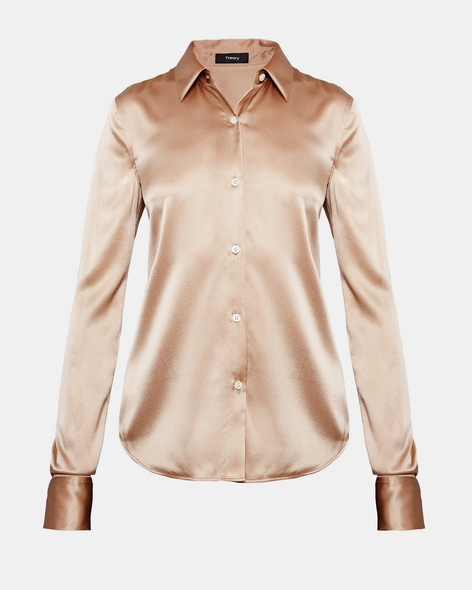 Theory Short Sleeve Satin Blouse Visa Payment For Sale Cheap Sale Manchester Clearance Affordable Outlet Low Price Fee Shipping Pay With Paypal Cheap Online V0UuGrT