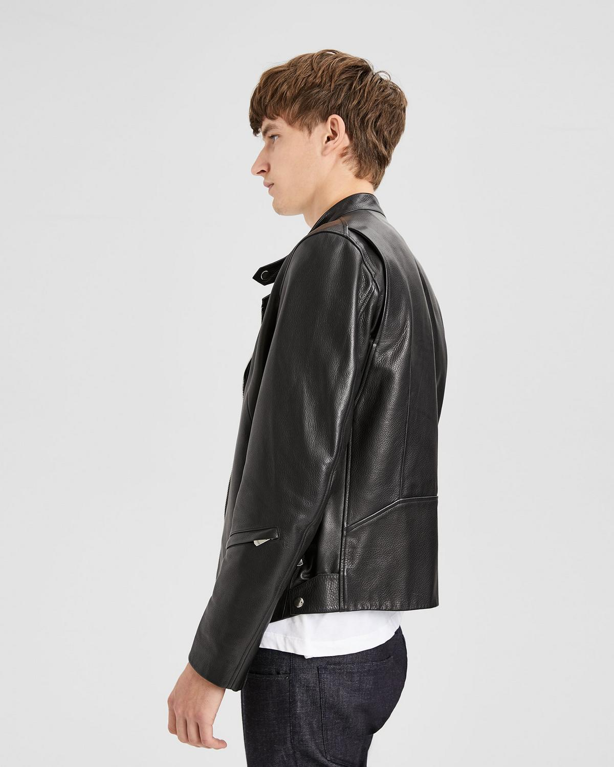 Banded DB Leather Jacket