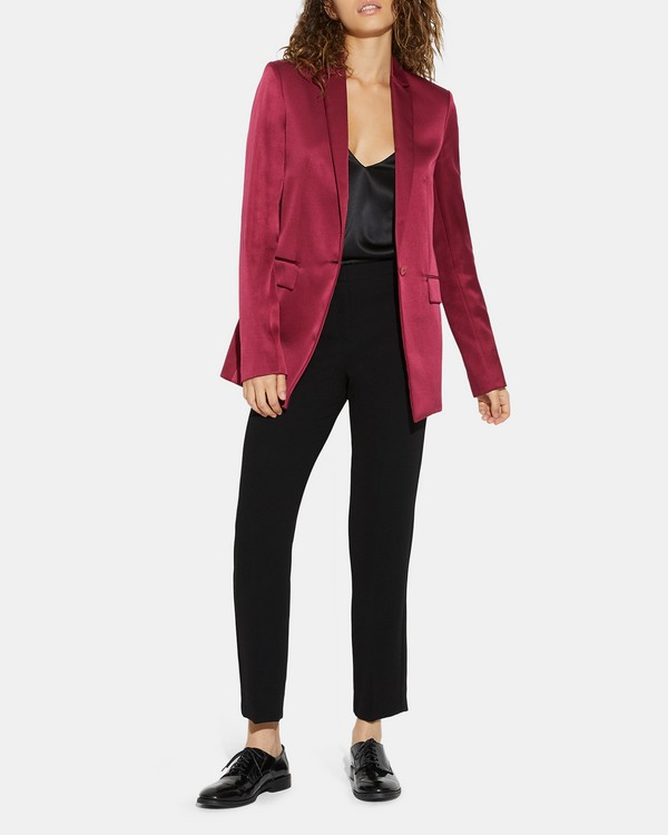 Mulholland Boyfriend Blazer in Satin