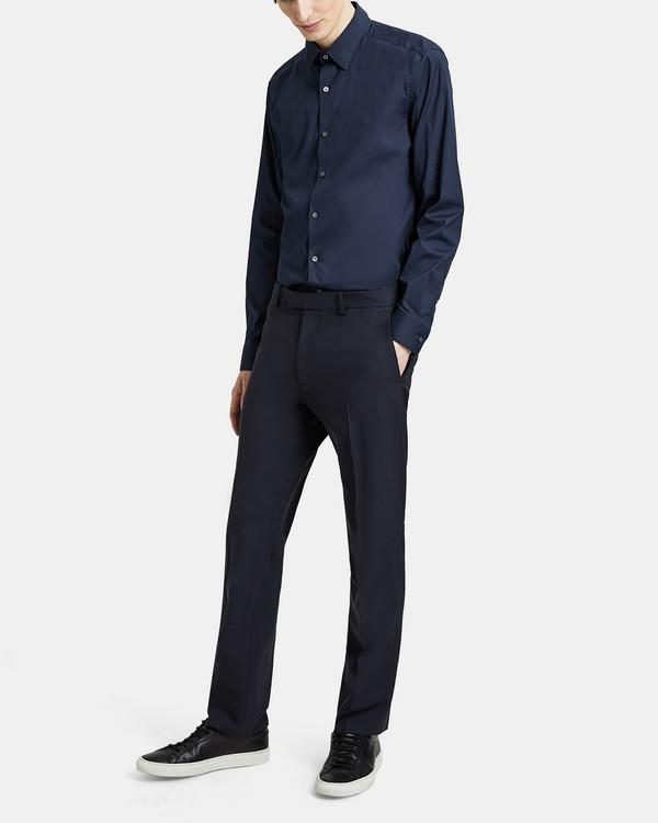 띠어리 맨 바지 Theory Straight-Fit Suit Pant in Good Wool,INK