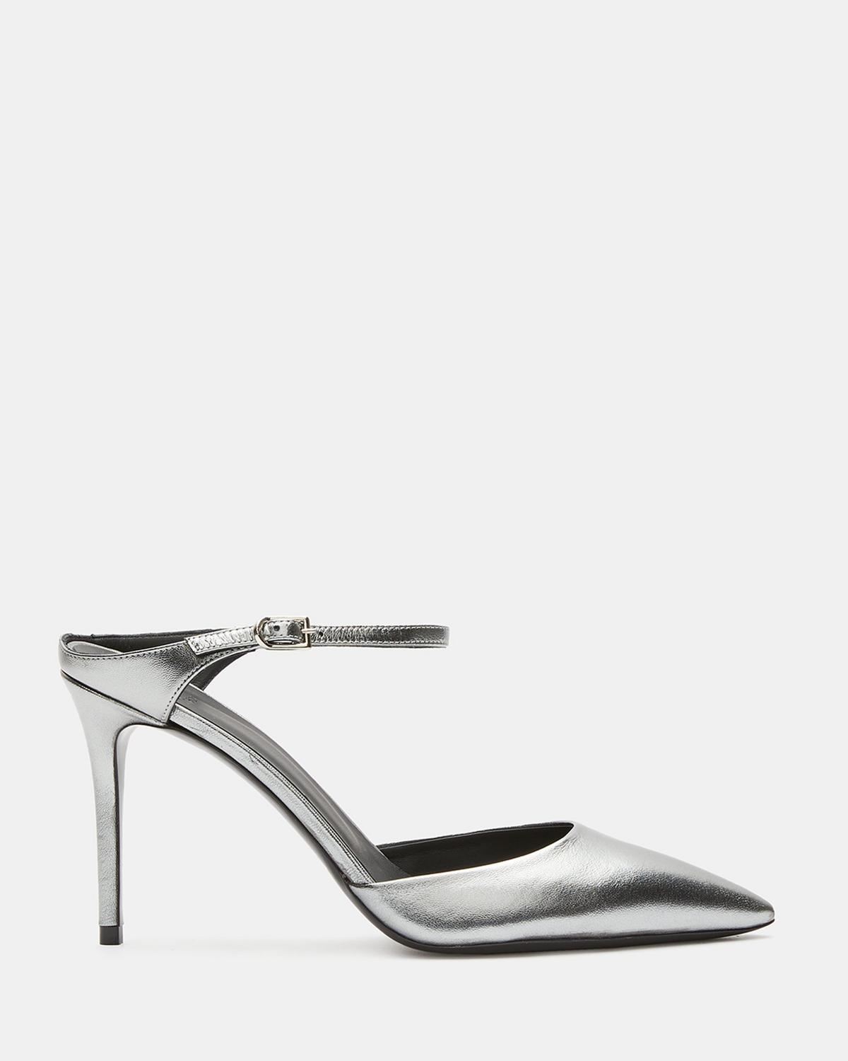 Metallic Leather Mule