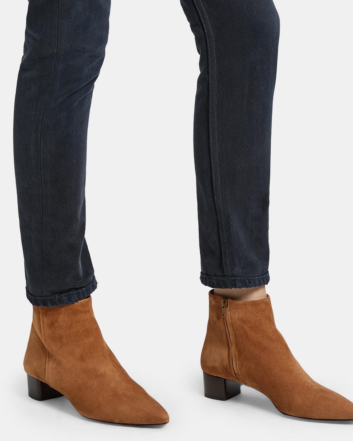 Theory Pointed-Toe Suede Boots Free Shipping With Mastercard ZcS2t