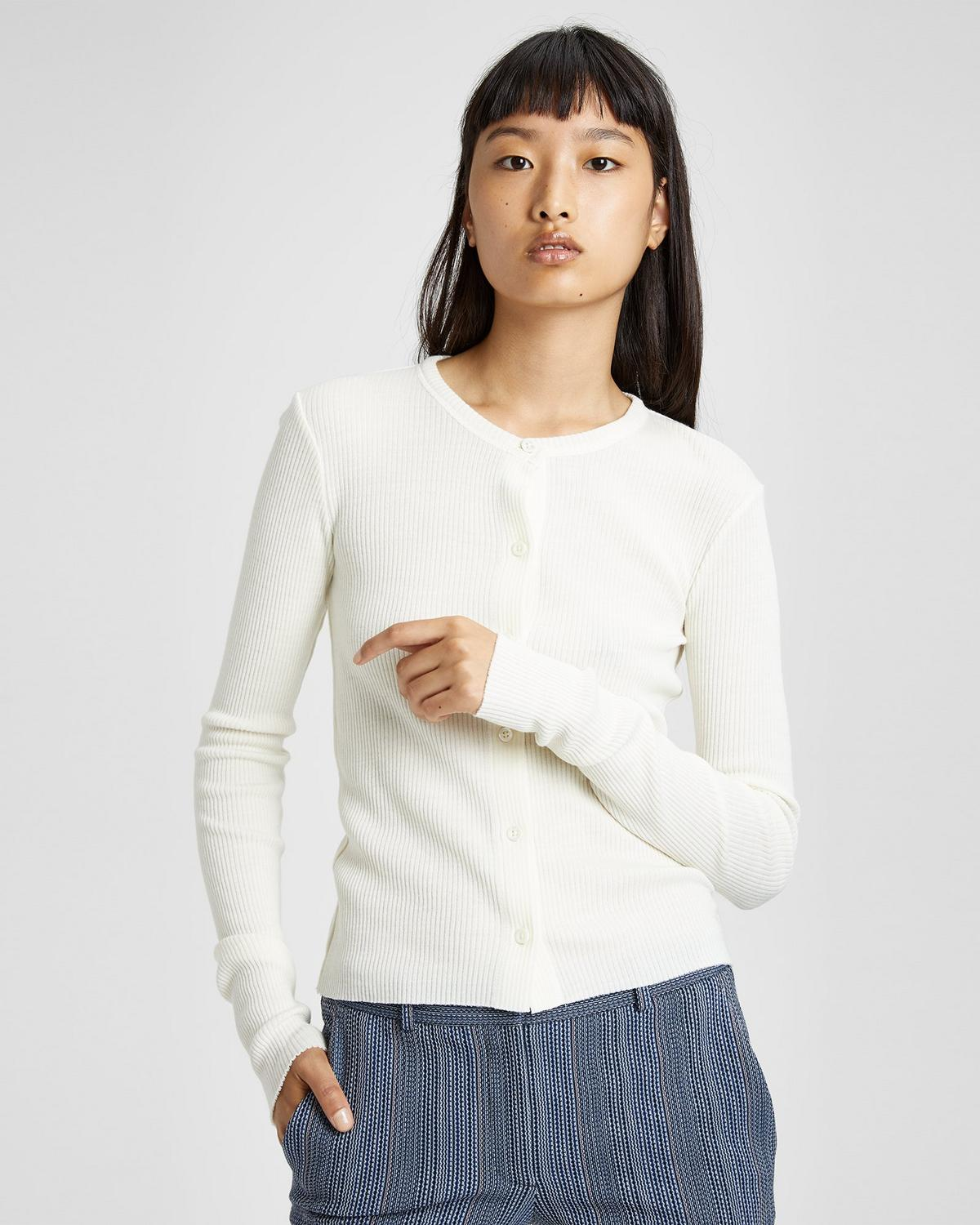 Ribbed Basic Cardigan