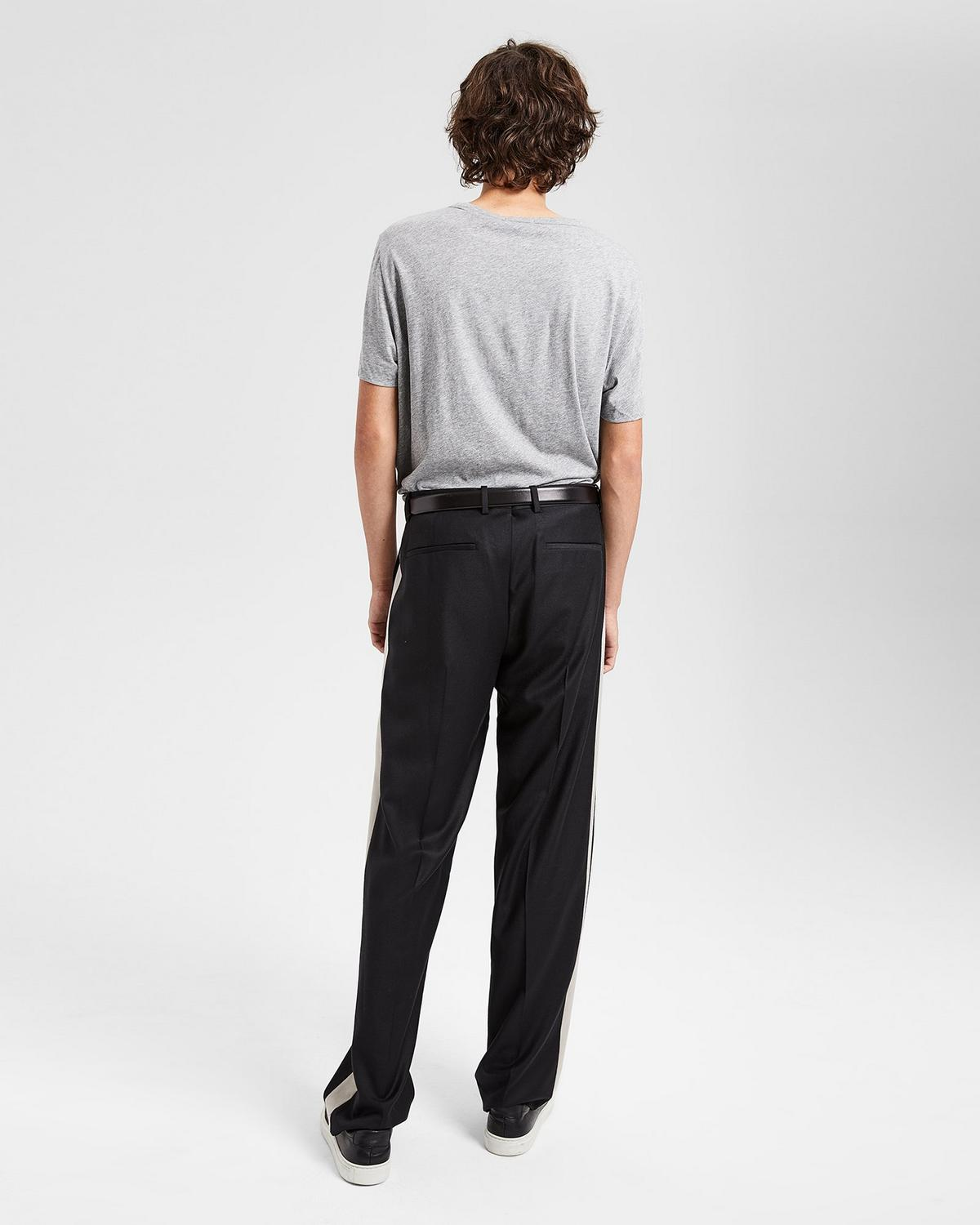 Tailored Flannel Relaxed Striped Pant