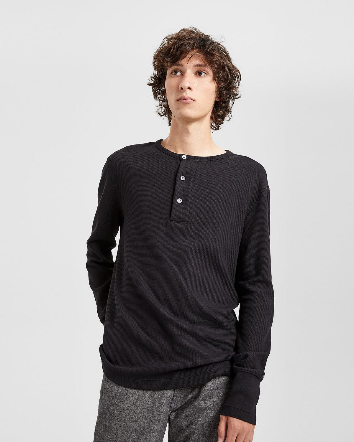 Cotton waffle henley shirt theory for Whats a henley shirt