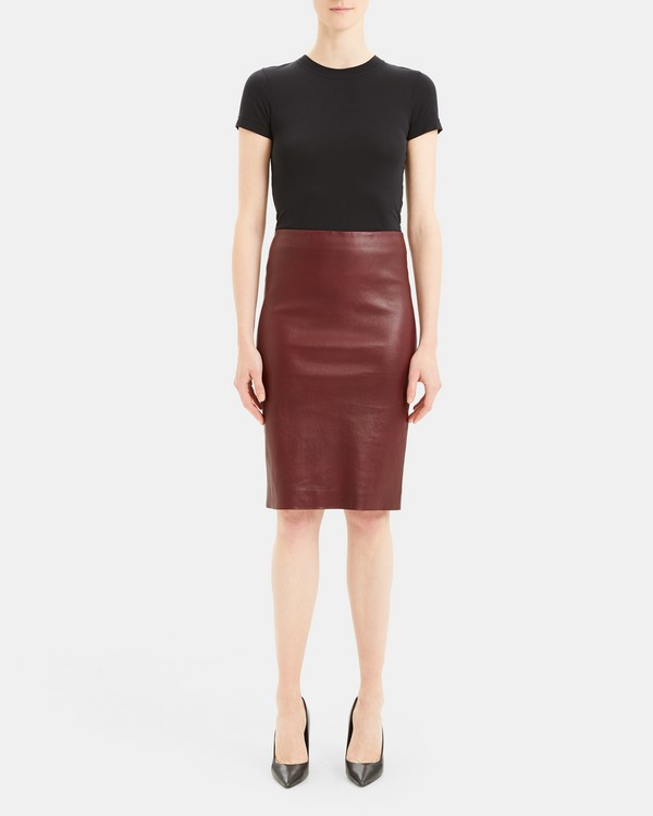 Pencil Skirt in Leather