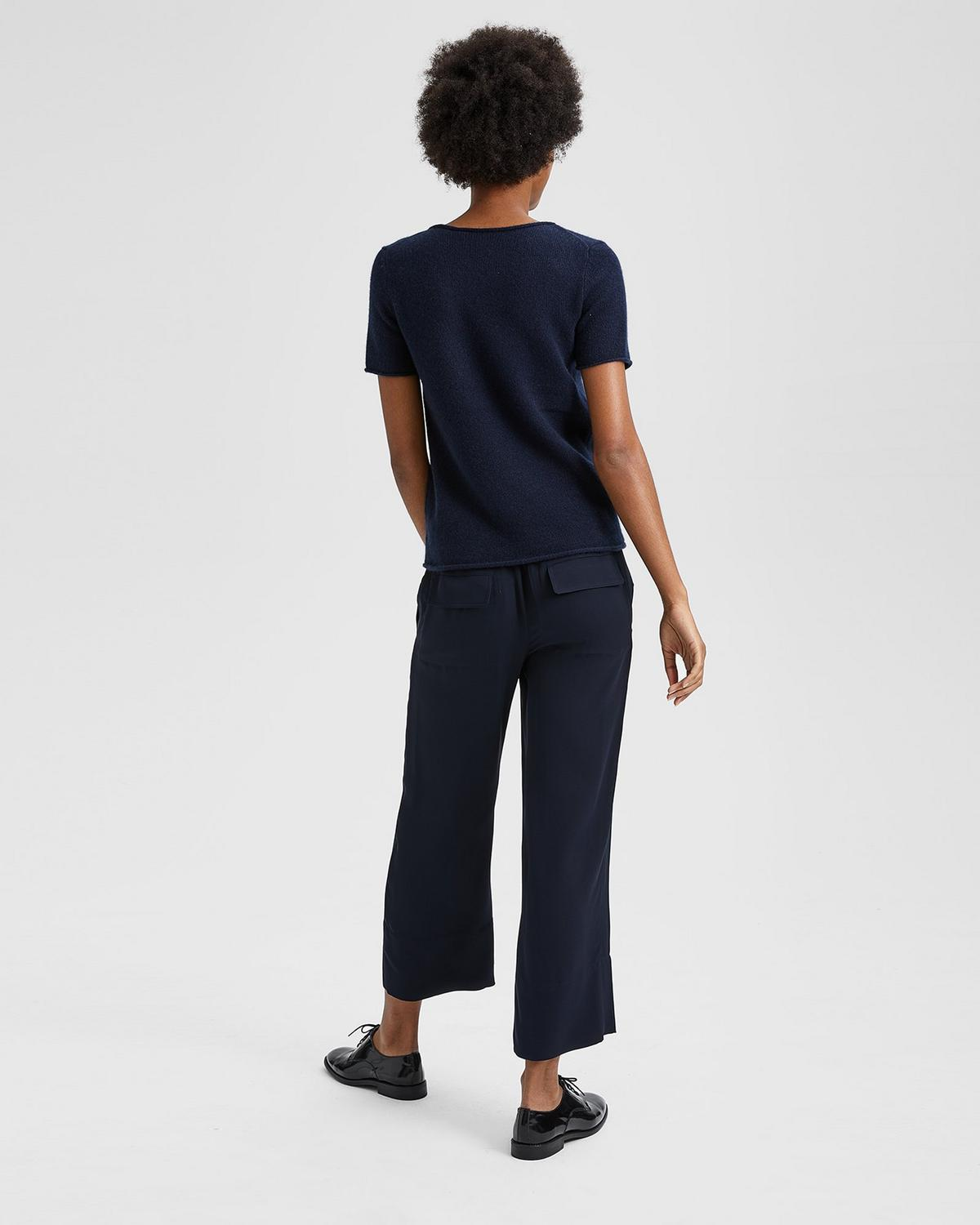 Theory Fluid cropped trousers Discount Many Kinds Of Cheap Visit Cheap Sale Release Dates Sale Deals Sale For Nice F6DTHaH7