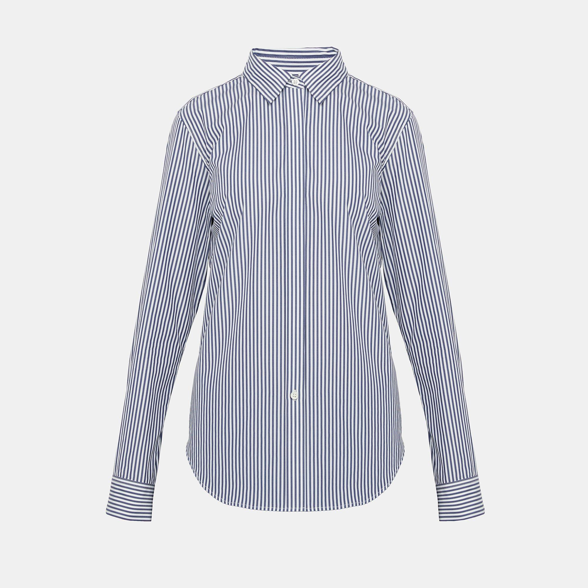 945ee9a5d2 Striped Essential Button-Down Shirt | Theory