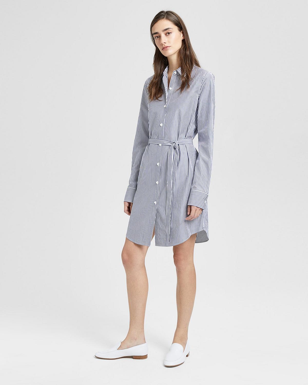 1e4b6ed98e Striped Clean Shirt Dress | Theory