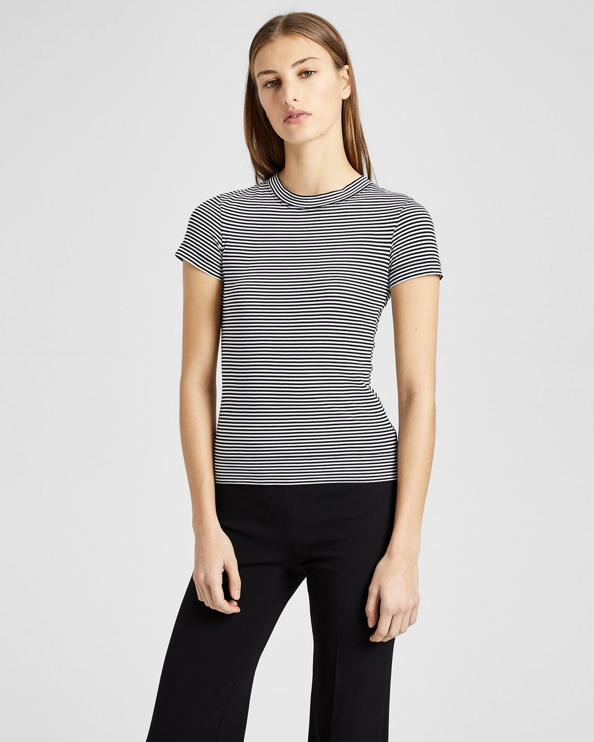 Pima Cotton Stripe Tiny Tee