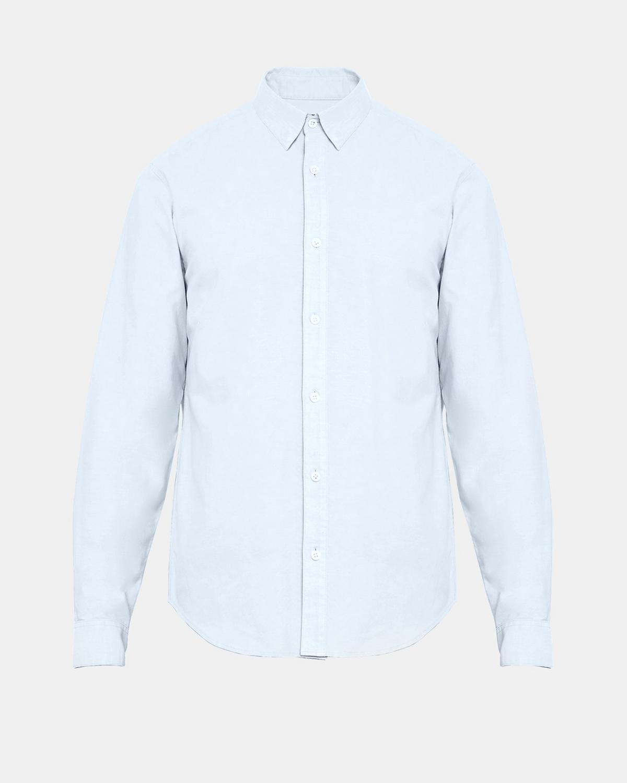 Cotton oxford hidden button collar shirt theory for Hidden button down collar shirts