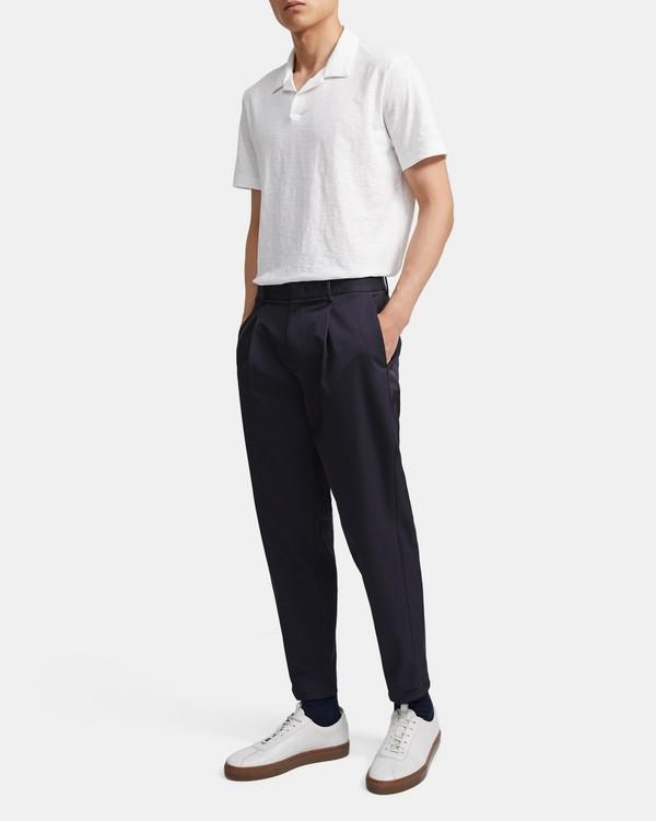 띠어리 맨 오픈 카라 폴로 셔츠 - 화이트 Theory Cotton Open Collar Polo