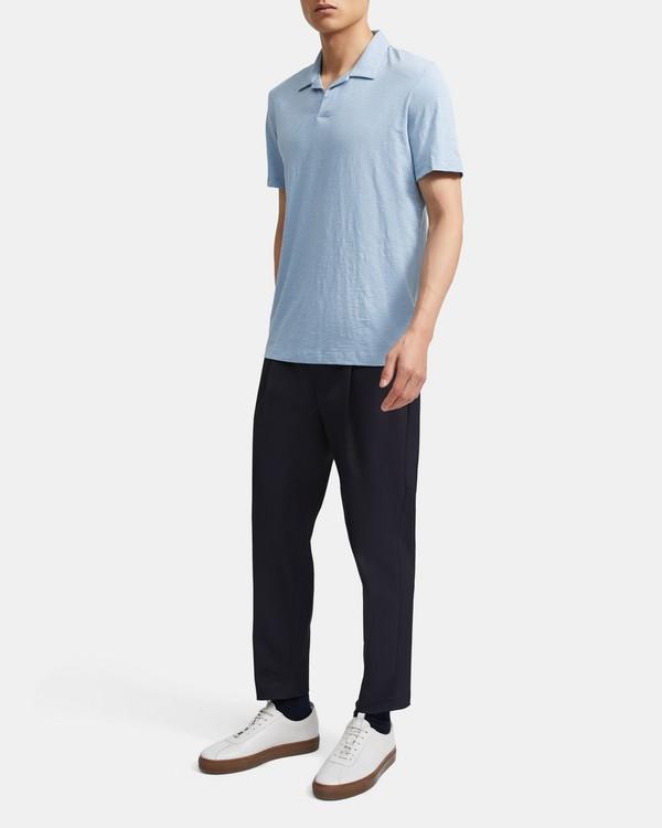 띠어리 맨 오픈 카라 폴로 셔츠 - 페이딩 Theory Cotton Open Collar Polo