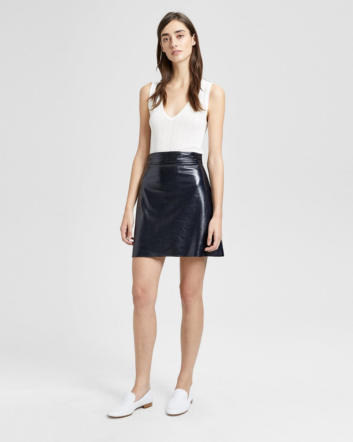 56e761297 Patent Leather Mini Skirt | Theory