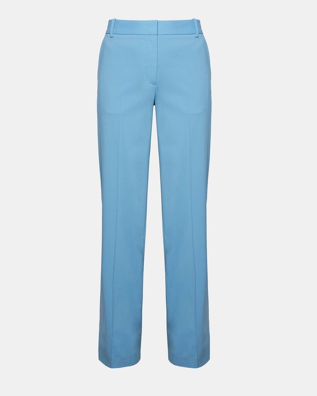 Theory Womens Piazza Linen Wide-Leg Dress Pants