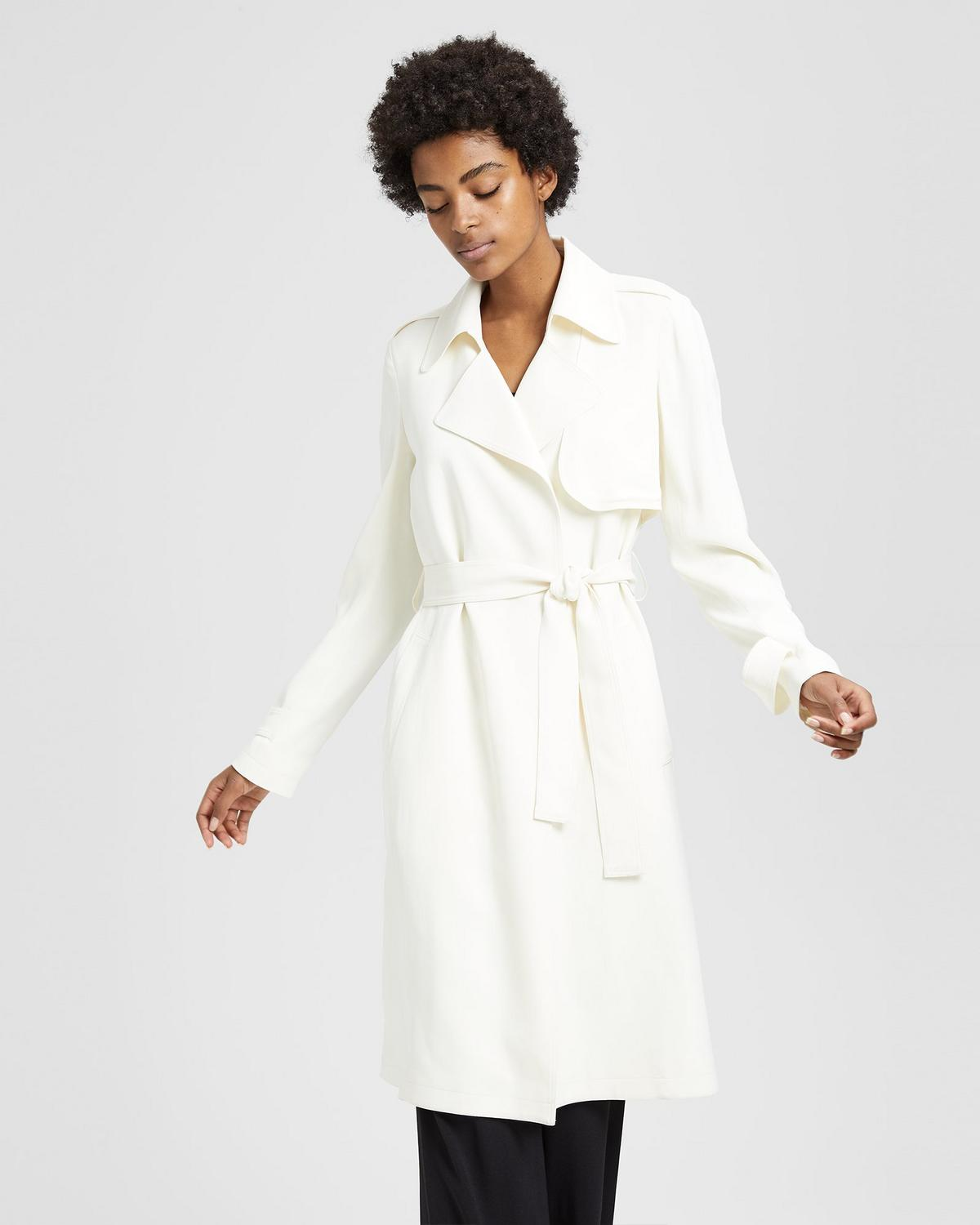 6f8b7018abf Theory. Crepe Belted Trench Coat 0 - click to view larger image