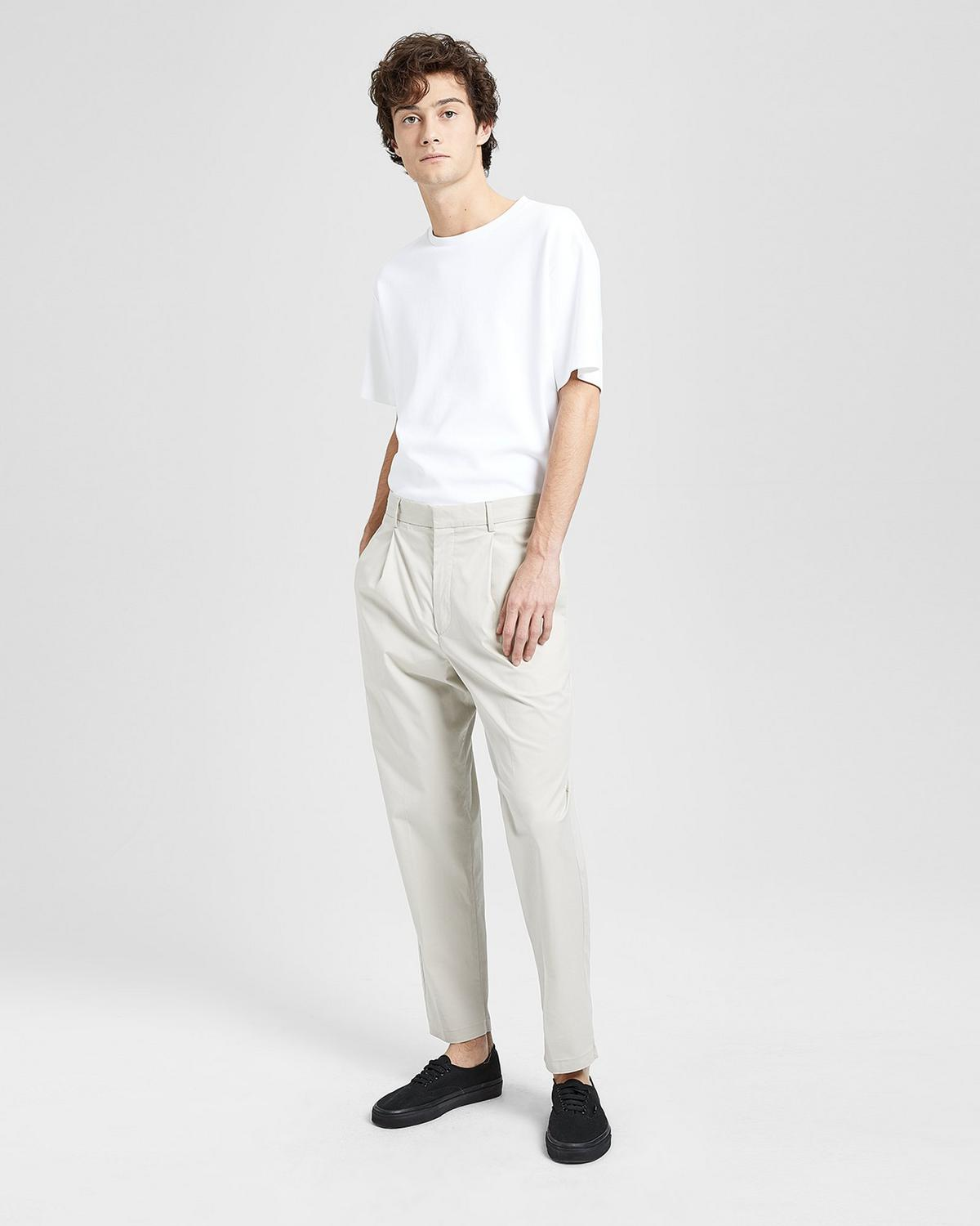 Cotton-Wool Relaxed Pleated Pant