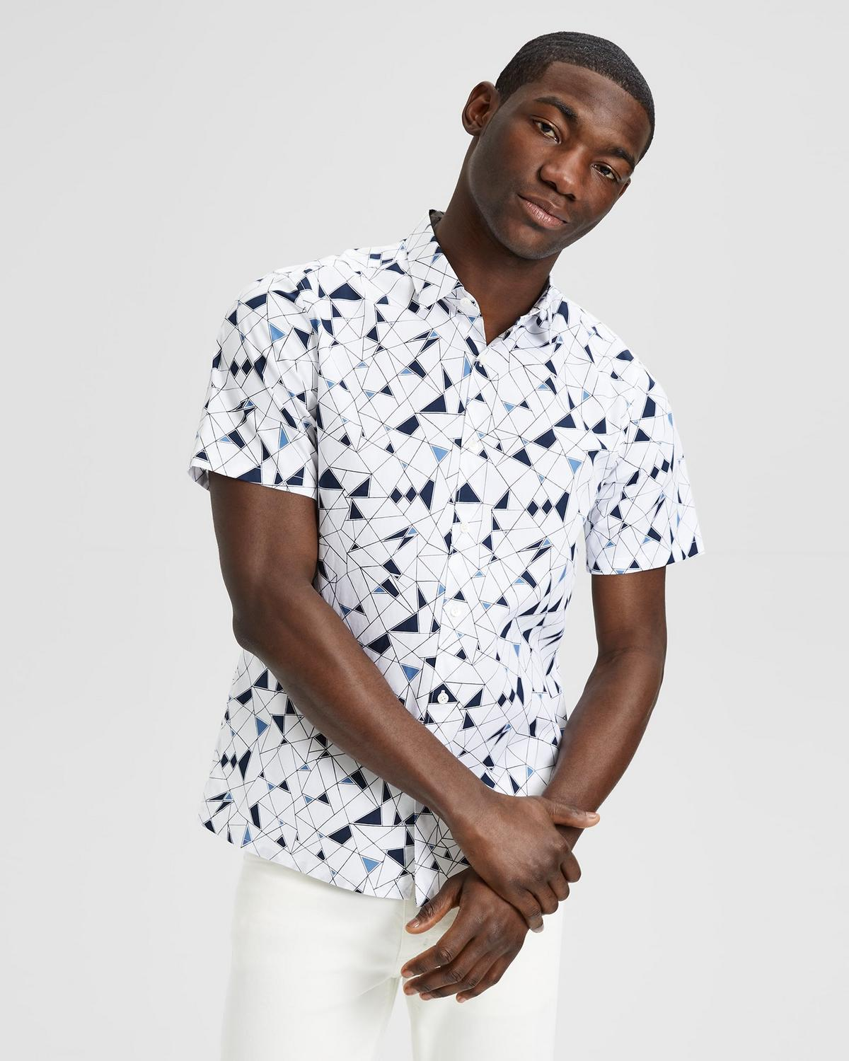 Abstract Print Standard-Fit Short-Sleeve Shirt