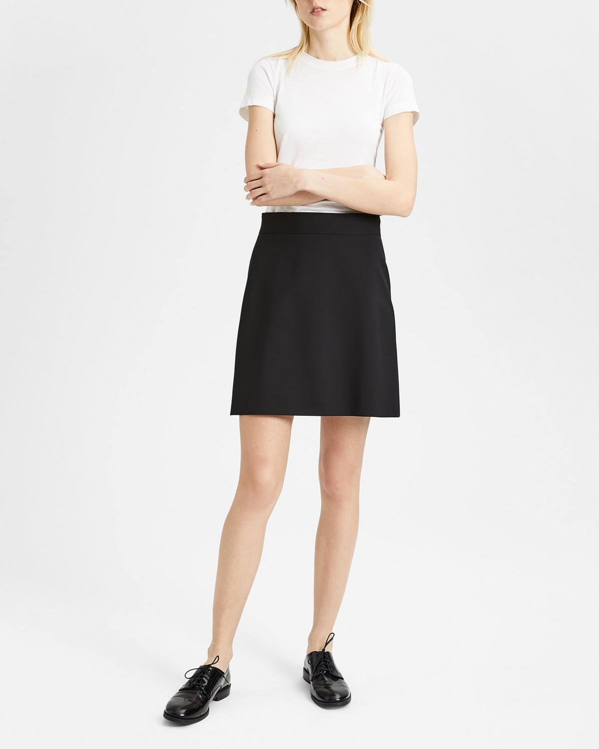 8add95778 Good Wool High-Waisted Mini Skirt 1 - click to view larger image ...