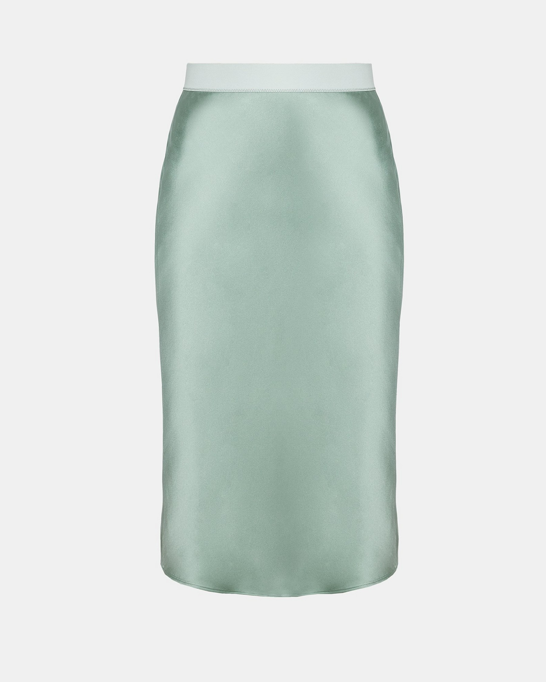 959b132097c4 Shoptagr | Silk Satin Pull On Slip Skirt by Theory