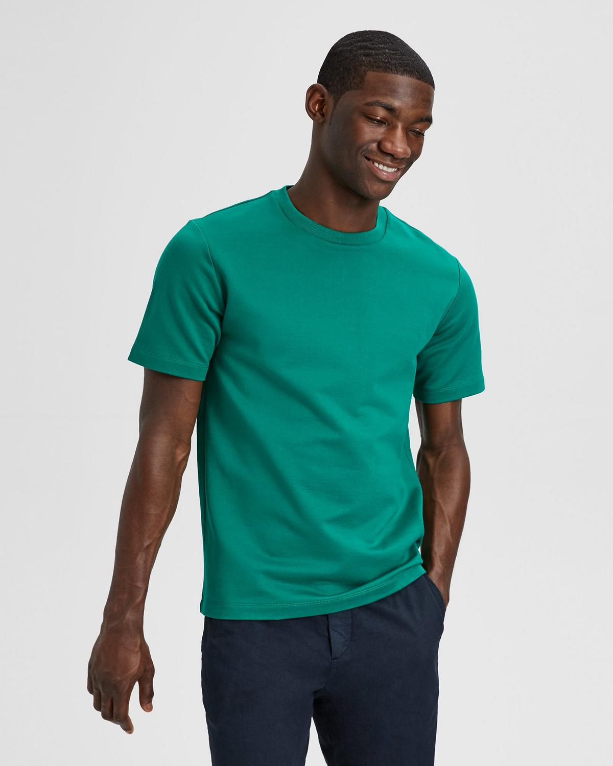 Compact Cotton Terry Structure Tee