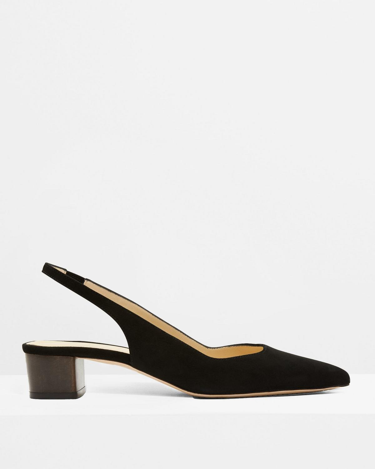 Block Slingback in Suede