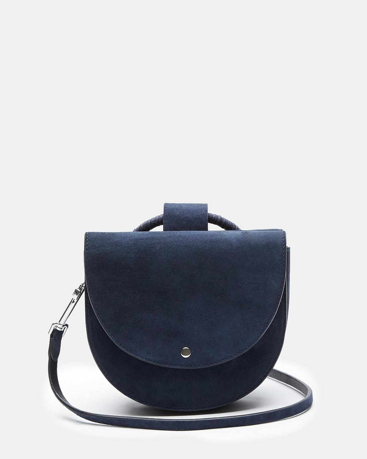 Whitney Bag With Cord Wax Hoop in Suede