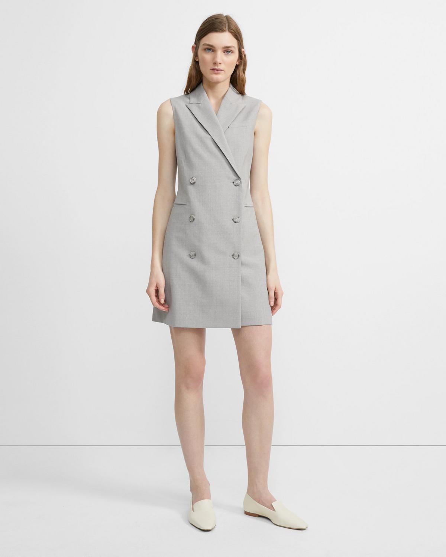 8ed0f3e81a Good Wool Sleeveless Blazer Dress