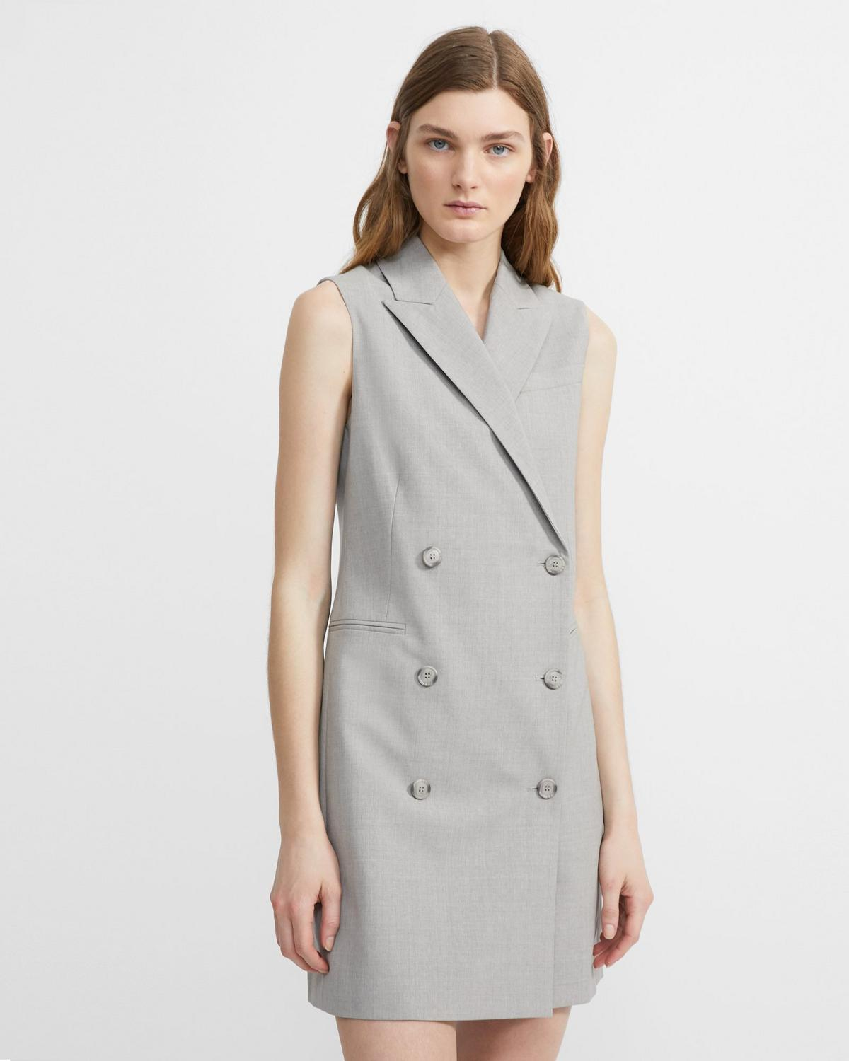 f2ff31aaf9dbe Good Wool Sleeveless Blazer Dress 0 - click to view larger image