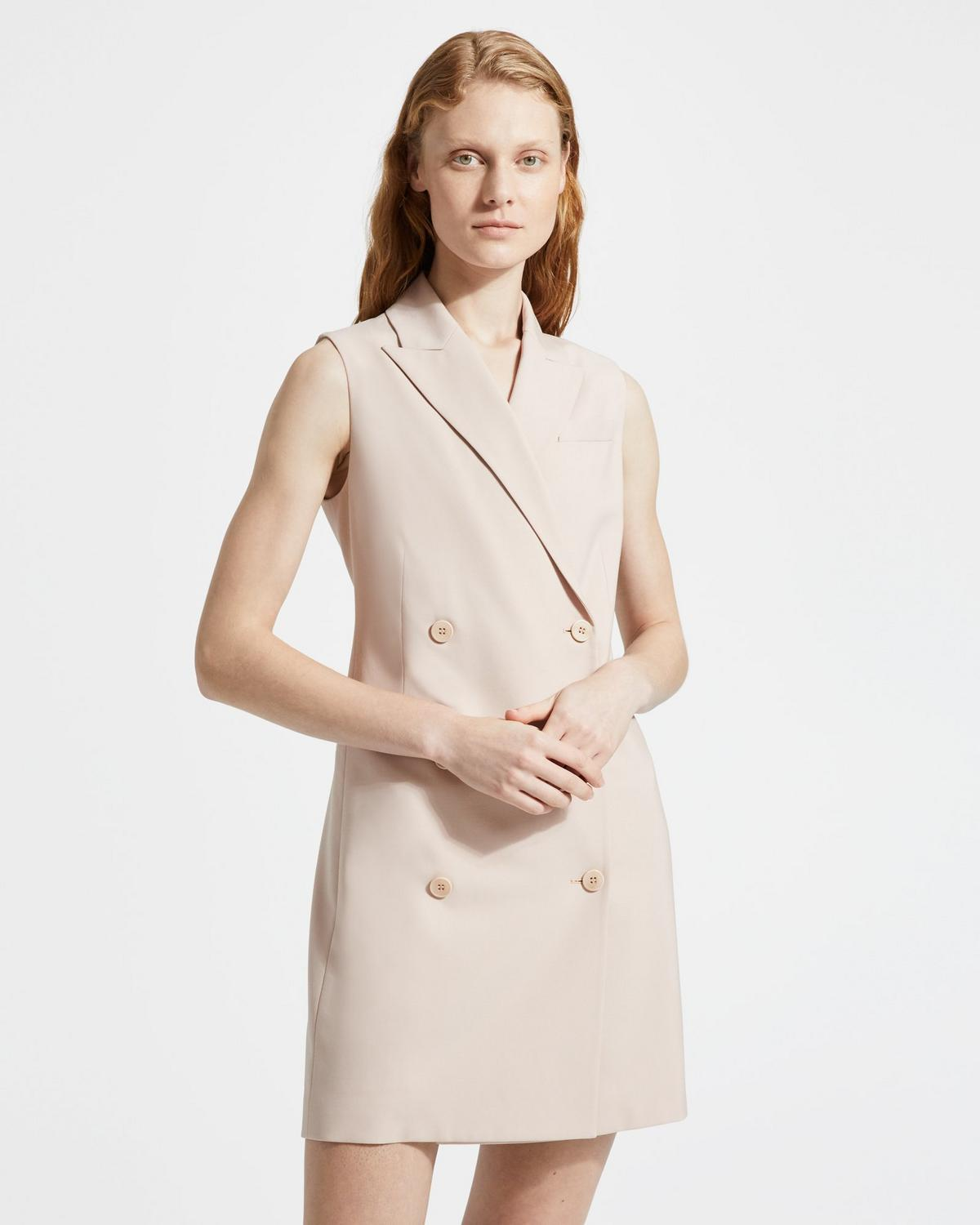 Good Wool Sleeveless Blazer Dress