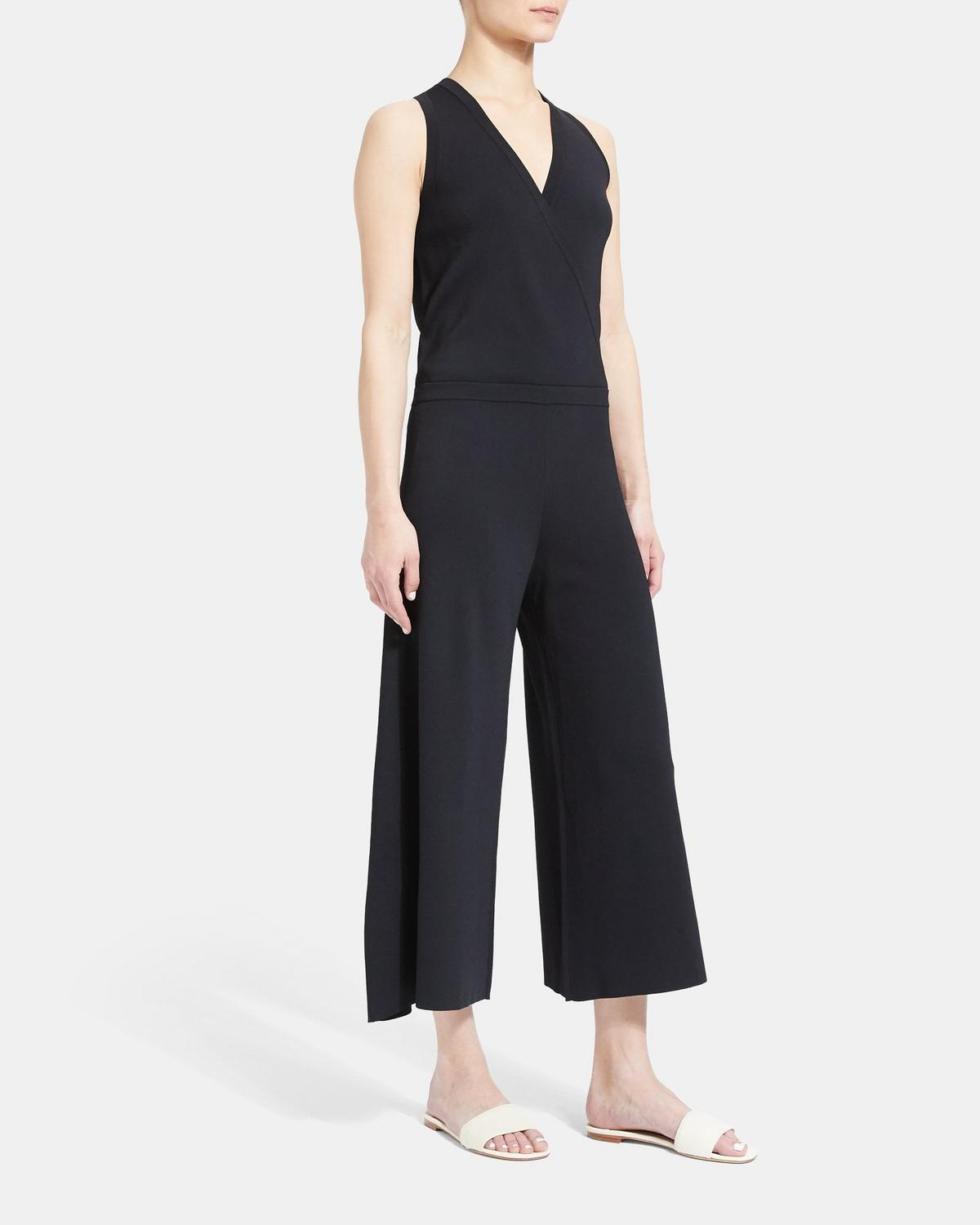 Knit Wrap Jumpsuit