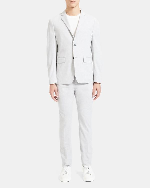 띠어리 맨 수트 자켓, 스트레치 코튼 Theory Unstructured Suit Jacket in Stretch Cotton,LIGHT GREY MELANGE
