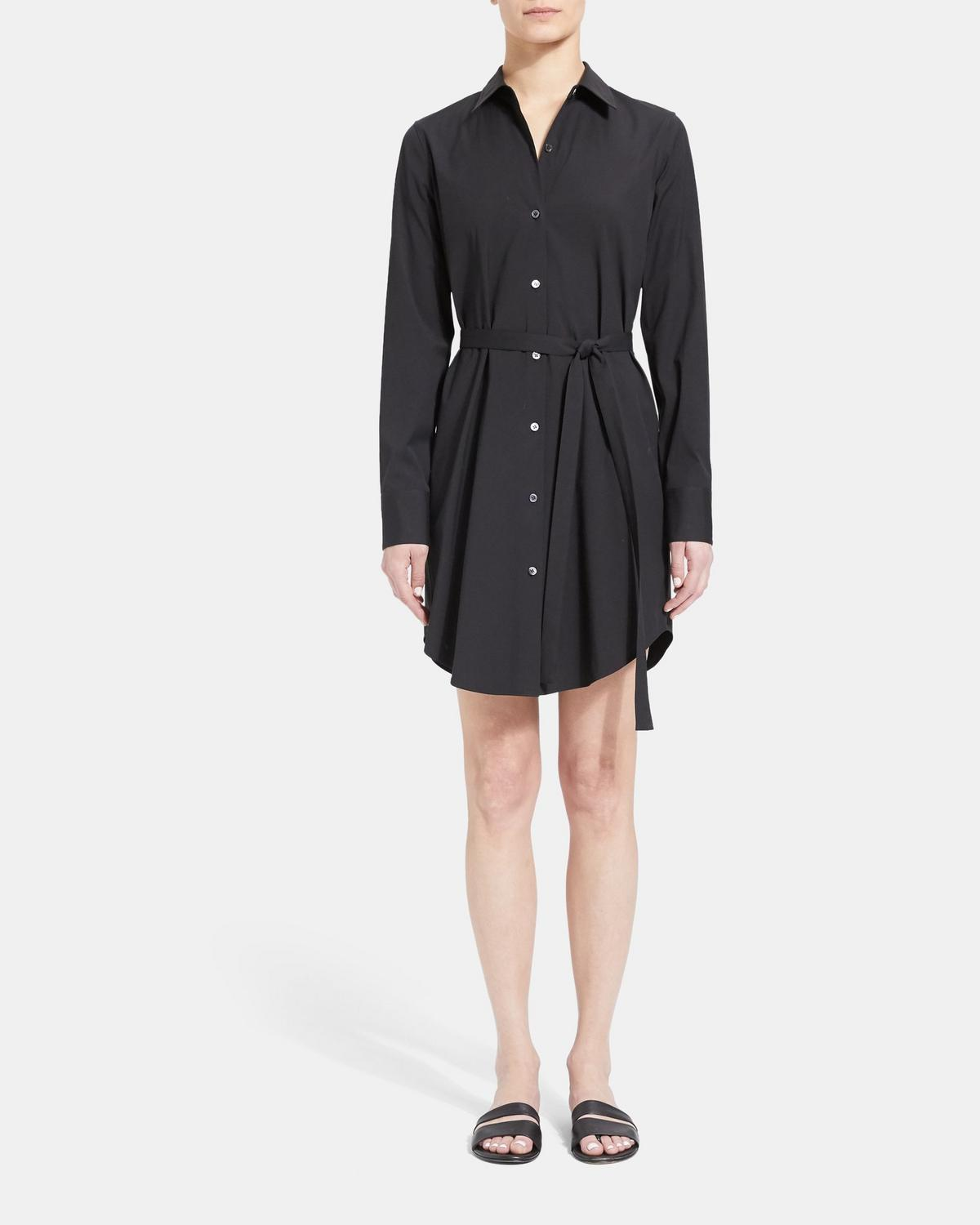 Stretch Cotton Clean Shirt Dress