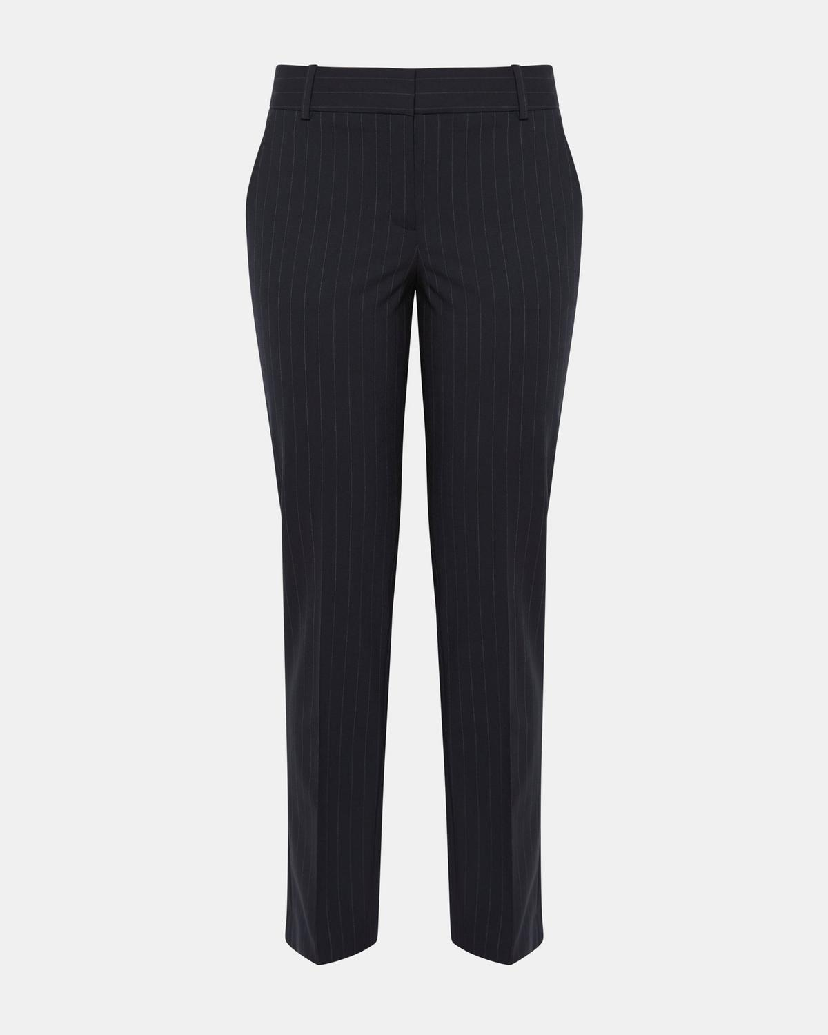 Good Wool Pinstripe Straight Trouser