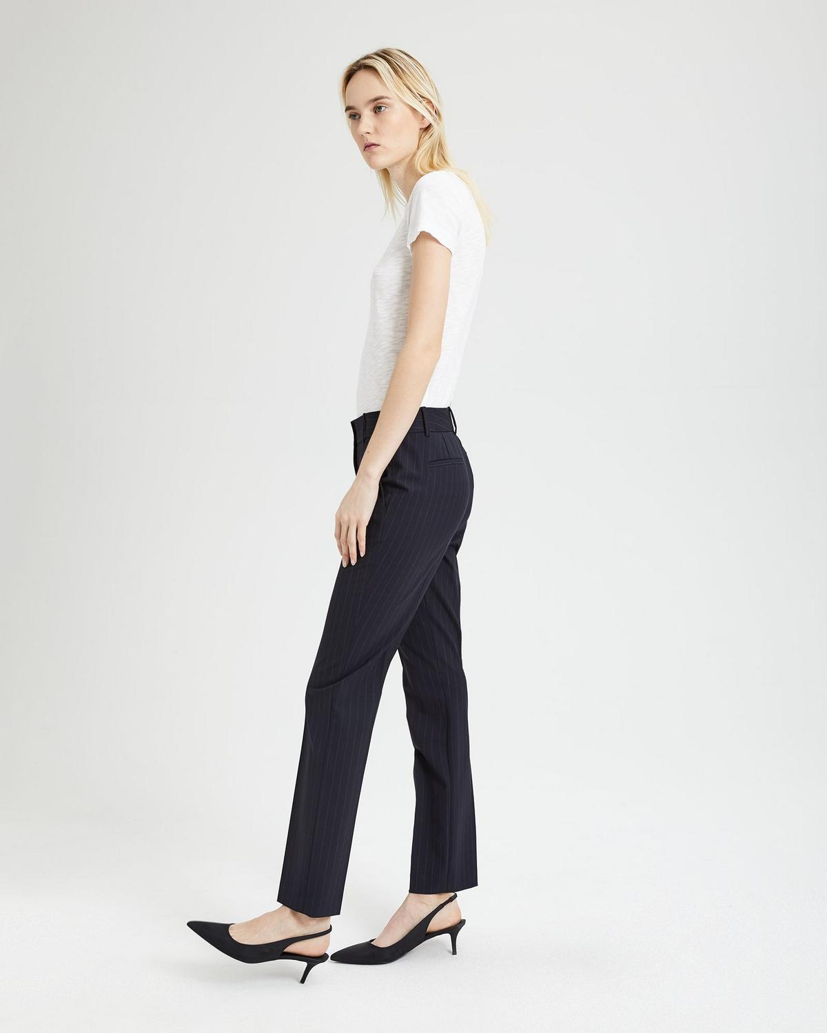 Good Wool Pinstripe Straight Pant