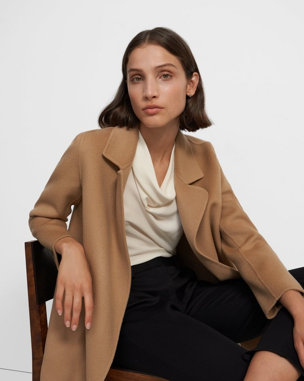 띠어리 Theory Clairene Jacket in Double-Face Wool-Cashmere,PALOMINO