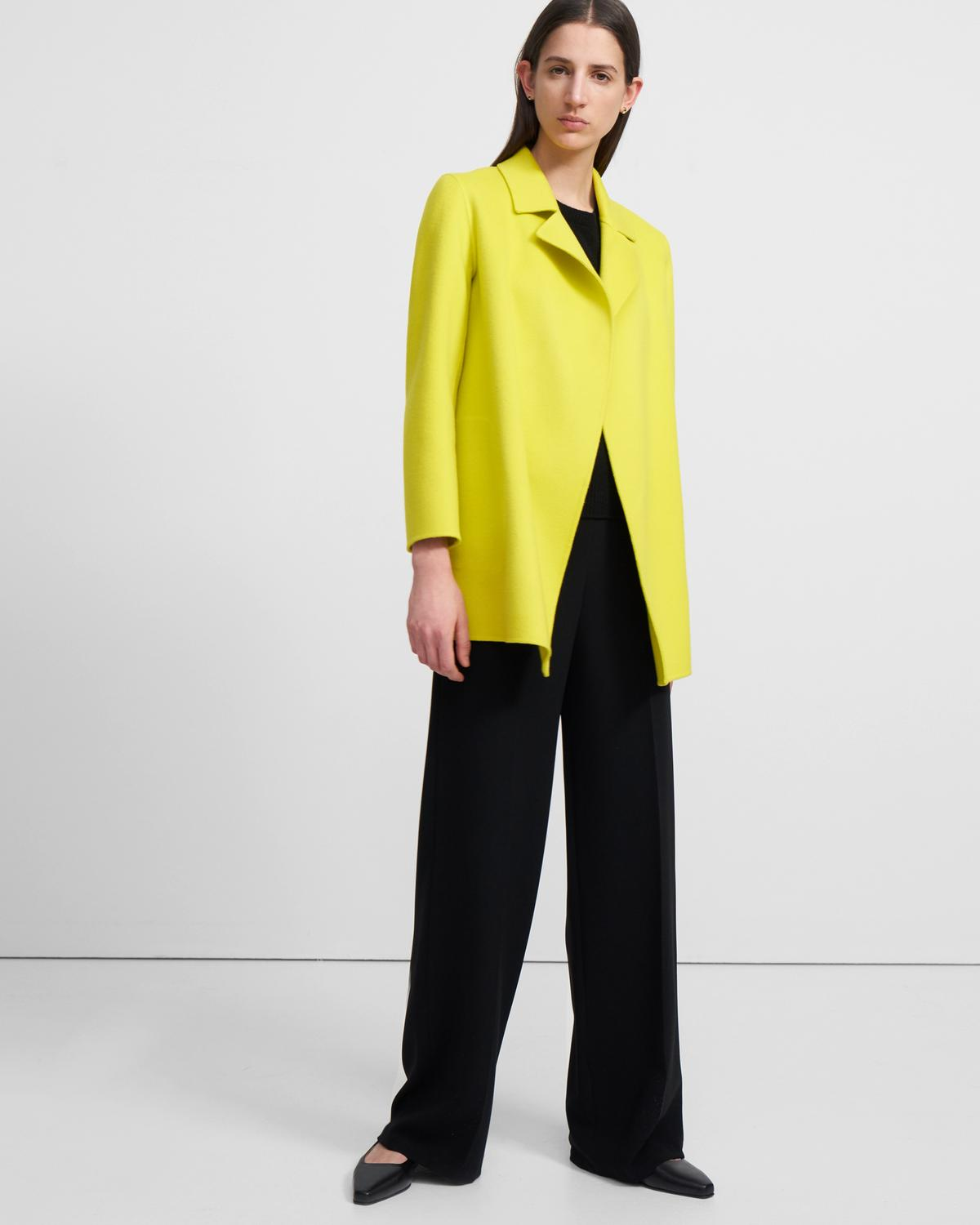 Clairene Jacket in Double-Face Wool-Cashmere 0 - click to view larger image